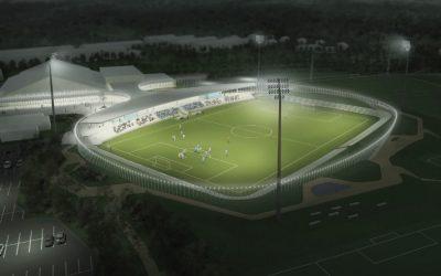 Første spadestik til Helsingørs nye stadion